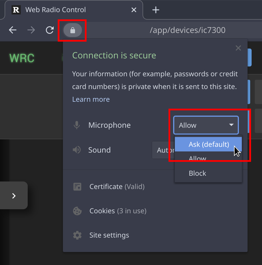 Removing saved permission to allow use of microphone in Chrome